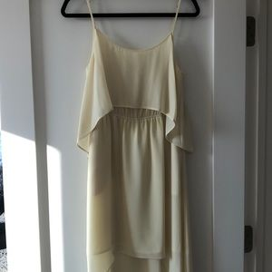Bcbgeneration high low yellow dress